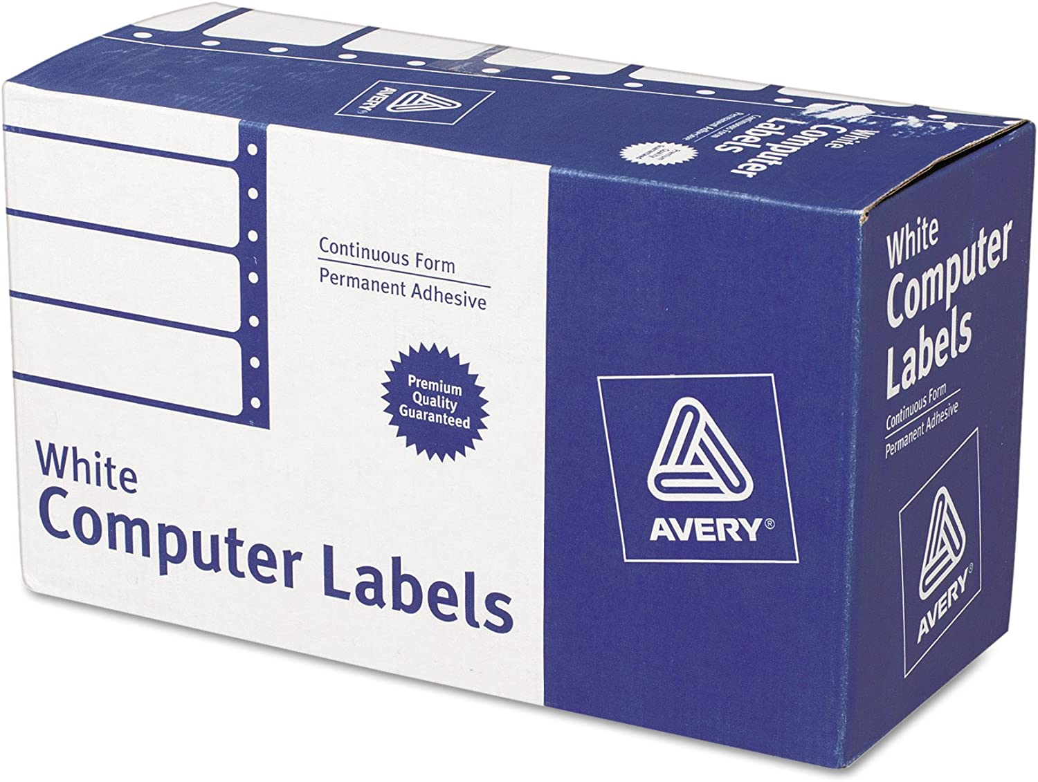 Avery 4022 Dot Matrix Mailing Labels, 1 Across, 1 15/16 x 4, White (Box of 5000) : Office Products