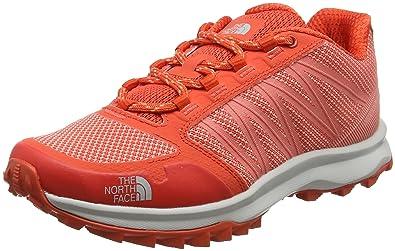The North Face Litewave Fastpack, Chaussures de Randonnée Basses Femme, Rouge (Fire Brick Red/Desert Flower Orange), 41.5 EU