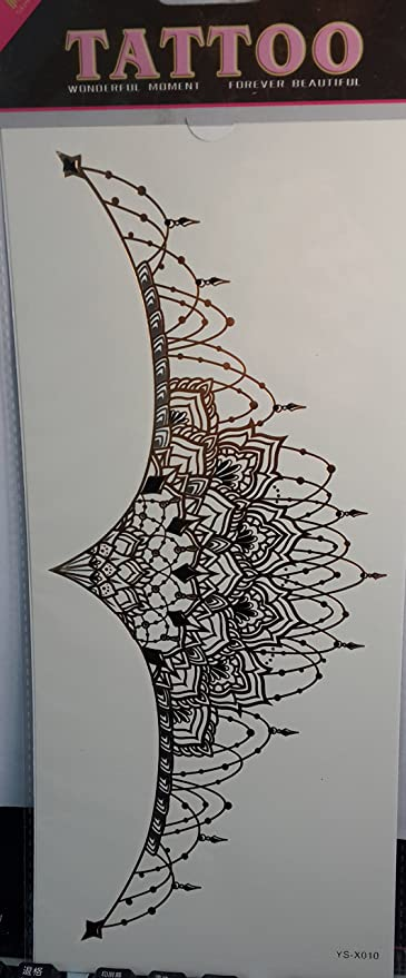 Ggsell Temporal Tatuajes Para Las Mujeres Del Pecho Joyería Diseño