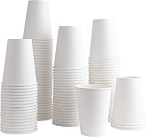 [200 Pack] 12 ounce Paper Hot Cups Disposable Coffee Cup for Espresso, Cold, or Hot Drinks, Tea, Coffee, Hot choclate