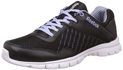 Reebok Women's Finish Lite Black, Pink and White Running Shoes ...