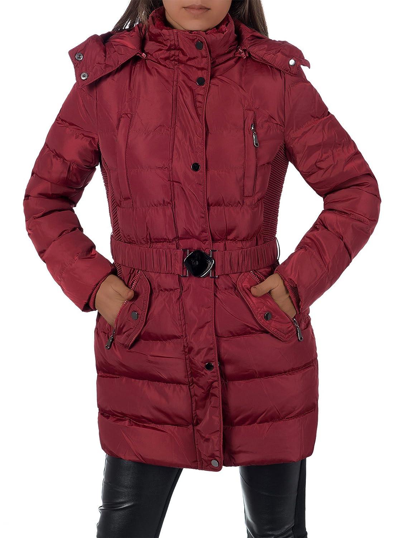 Diva Jeans L657 Damen Winter Jacke Steppjacke Parka Jacket Daunen Look Winterjacke