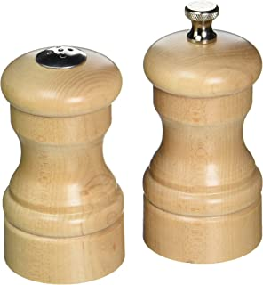 "product image for Chef Specialties 4"" Capstan Pepper Mill and Salt Shaker Set, Natural"