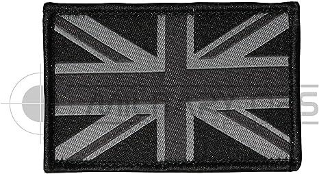 Parche Tejido Negro de Velcro con Diseño de Bandera Británica ...