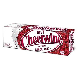 Cheerwine Diet Cherry Soda Soft Drink, 12 oz (12 Pack)