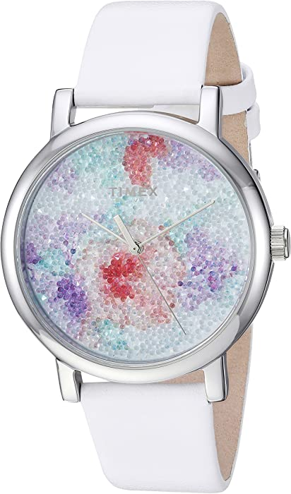 cd05c80bda9a Timex Reloj de Mujer Cuarzo 38mm analógico Correa de Cuero Genuino TW2R66500