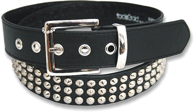 foolsGold 3 ligne ceinture cloutés conique en noir (taille 112cm - 122cm) 8d7e92789a8