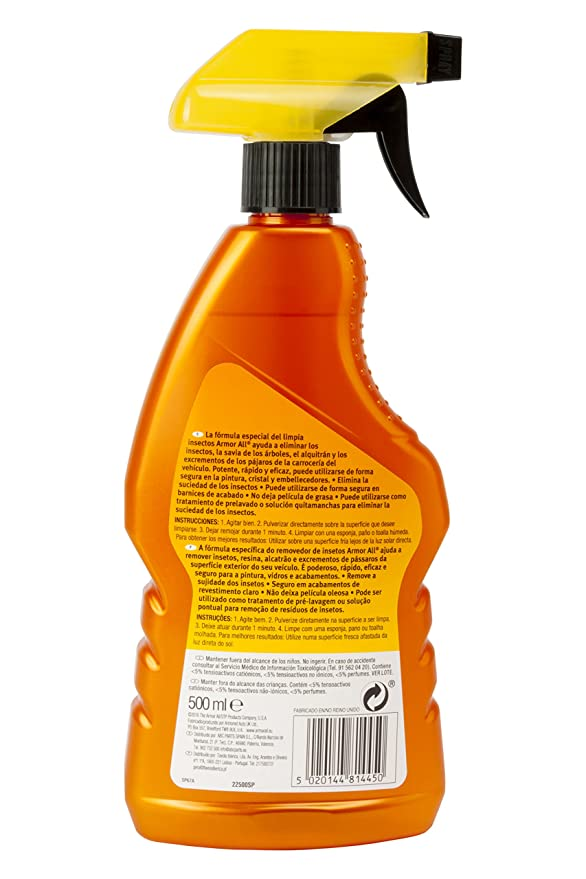 Amor All AA22500SP Shield Limpia Insectos, 500 ML: Amazon.es: Coche y moto