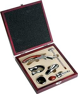 Compra Set de vino en caja de madera 6 accesorios ideas para regalos en Amazon.es