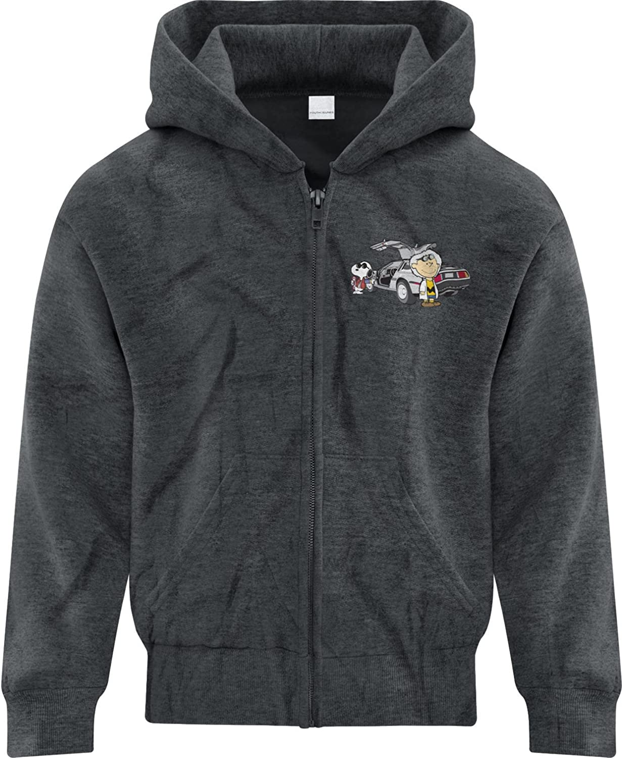 BSW Youth Boys Back to The Future Charlie Brown Snoopy Zip Hoodie