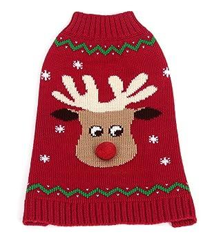 4e372a069f9df1 Pawfeet Reindeer Pompom Nose Crew Neck Jumper