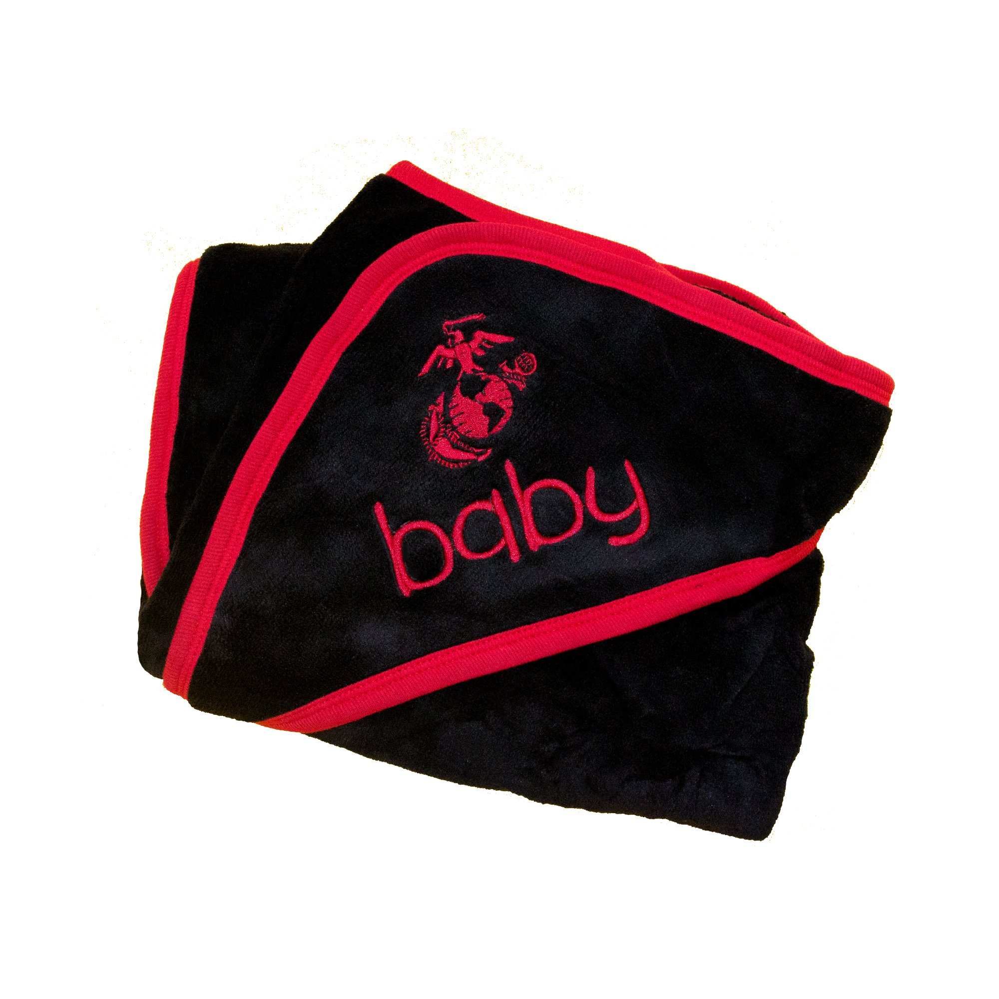 United States Marine Corps Plush Fleece EGA Logo Baby Blanket