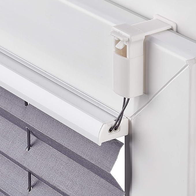 AmazonBasics - Estor enrollable plisado, de tela de poliéster color liso, con sistema de clips, 60 x 130 cm, Gris: Amazon.es: Hogar