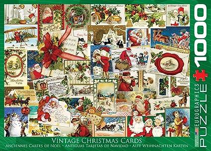 Amazoncom Eurographics Vintage Christmas Cards Puzzle 1000 Piece