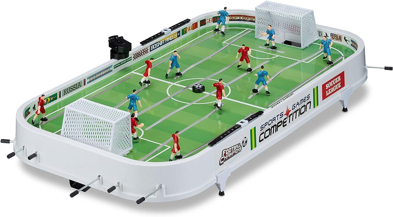 Relaxdays - Juego de Mesa Futbolín, plástico, 16 x 96 x 51 cm ...