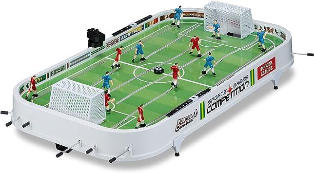Relaxdays - Juego de Mesa Futbolín, plástico, 16 x 96 x 51 cm, color ...