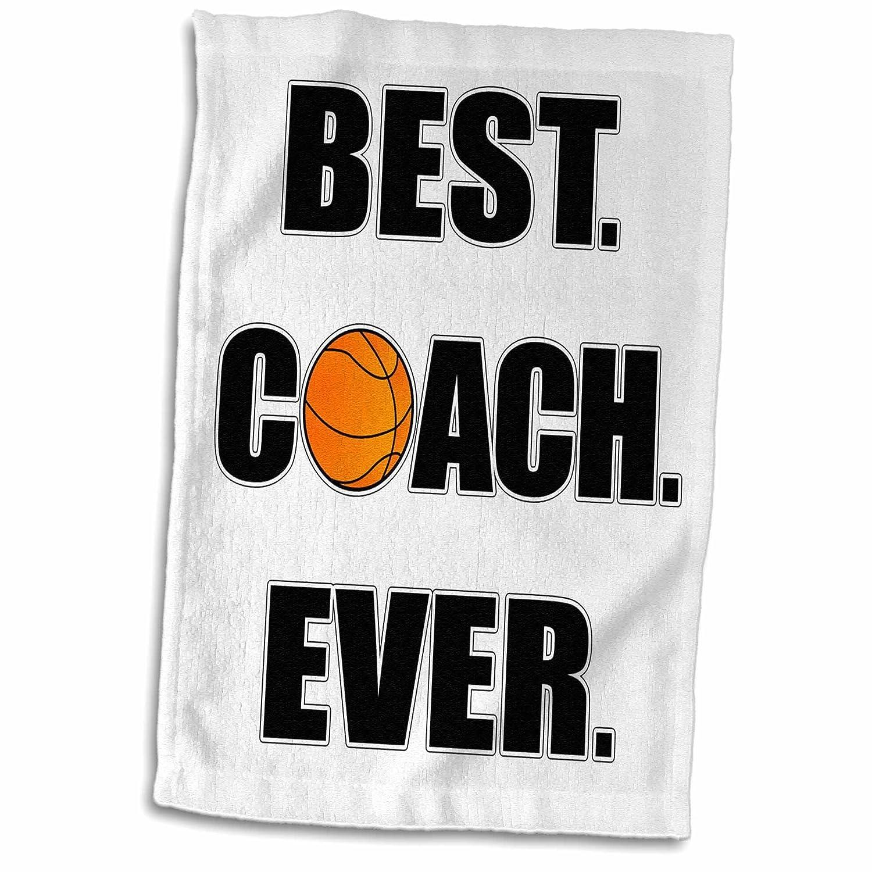 3D Rose Basketball Best Coach Ever TWL/_212088/_1 Towel 15 x 22