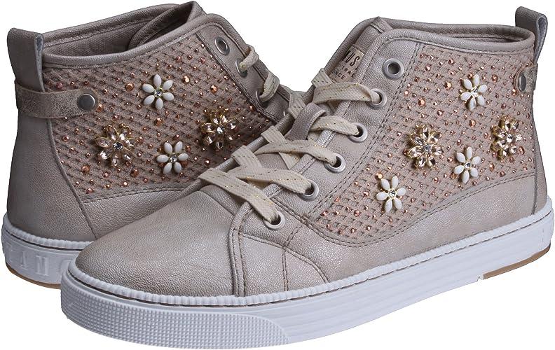MUSTANG Damen Sneaker High Schnürer Ivory Gr. 41 EU