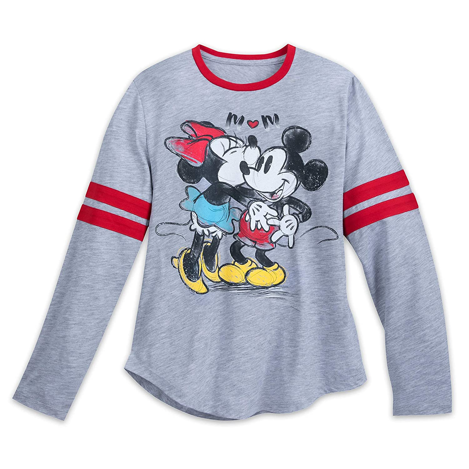 Disney Mickey Mouse Minnie Mouse Long Sleeve Shirt Adults Multi