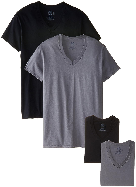 Fruit of the Loom Men's 4 Pack V-Neck T-Shirt 4P26V01