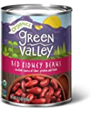 Green Valley Organics Dark Red Kidney Beans, 15 Ounce (Pack of 12)