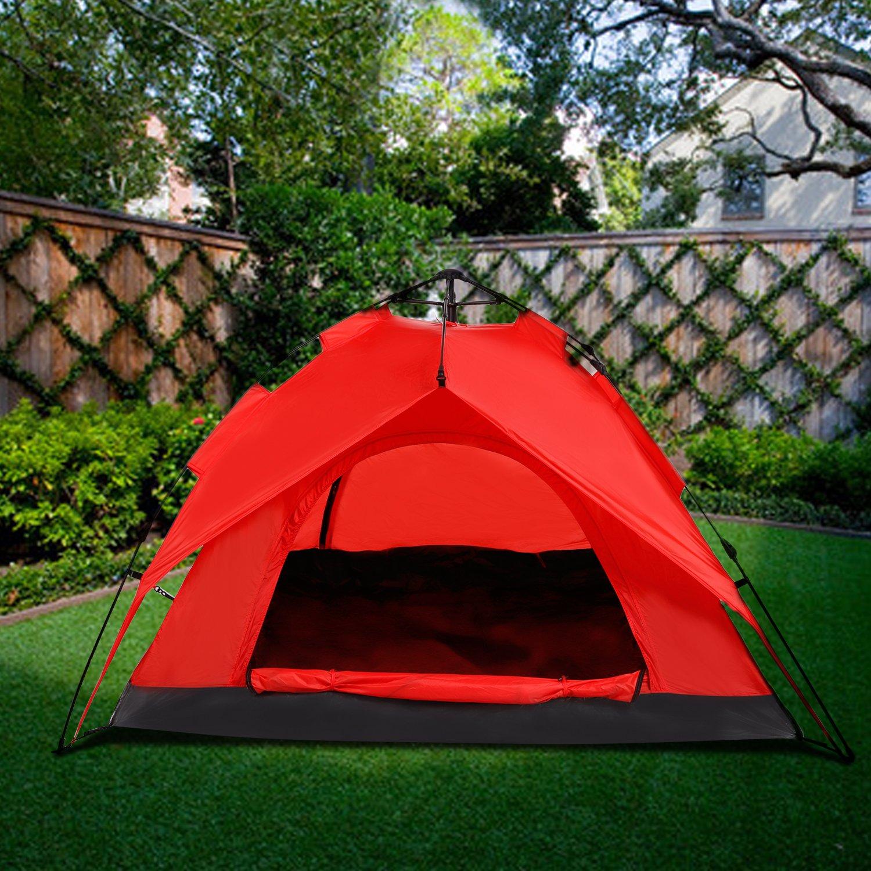 YUEBO Super Leicht Pop Up Zelt, Campingzelt 2-3 Personen Familiezelt ...