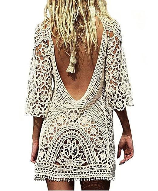 Lanzom Women Lady Crochet Lace Bikini Swimsuit Bathing Suit Beach