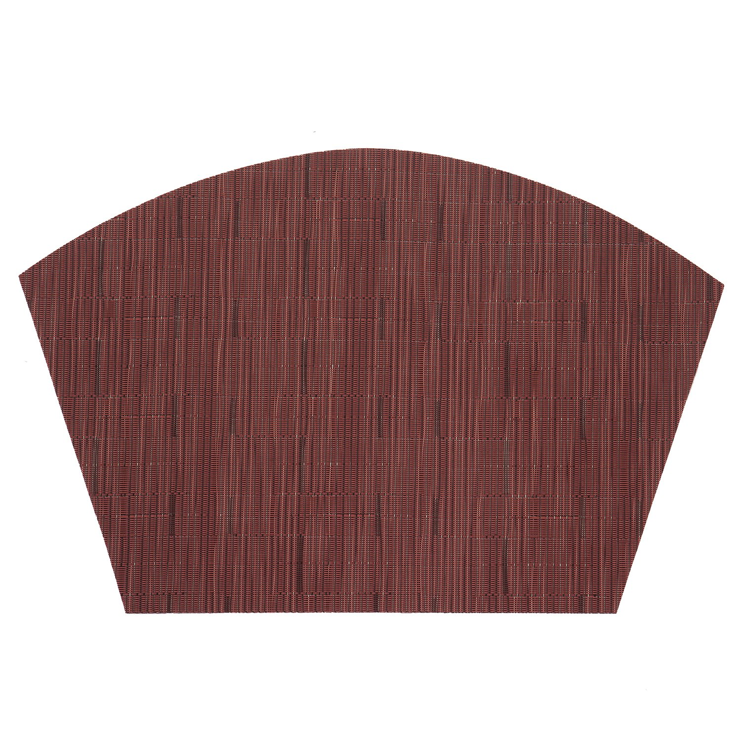 PAUWER Beige Wedge Placemats Set of 6 for Round Dining Table PVC Washable Round Table Placemats