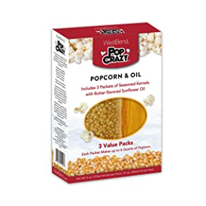 West Bend PC10518 Pop Crazy Popcorn & Oil, Multicolored (Discontinued by Manufacturer)
