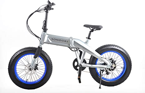 Sondors Fold X 500 Watt 48v 14 Ah Lithium Ion Battery 7 Speed Derailleur Up To 60 Mile Range And Up To Speeds Of 20 Mph Folding Electric Bike Pistol Black Amazon Co Uk Sports