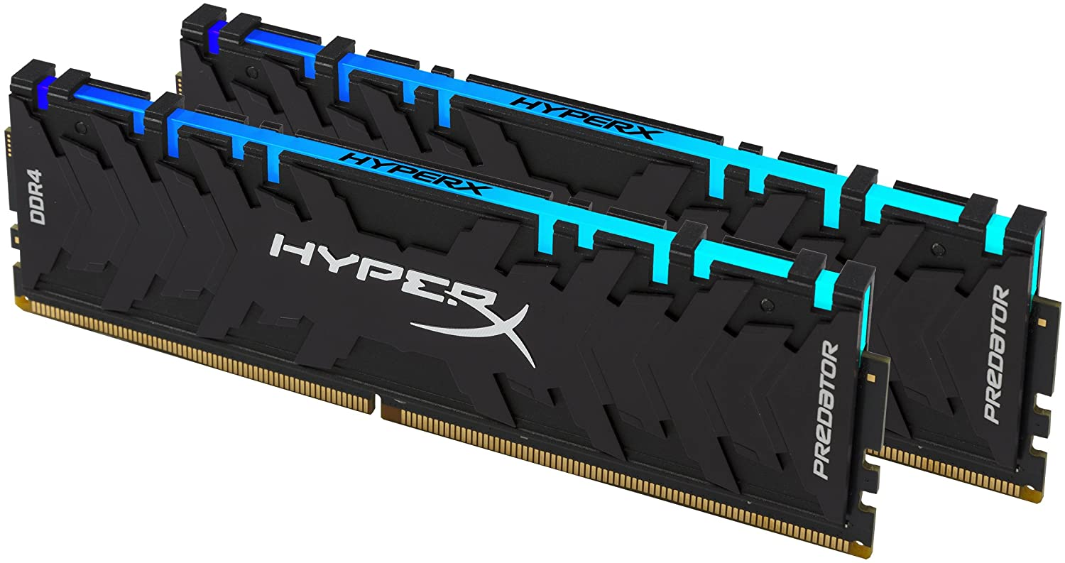 HyperX Predator DDR4 RGB 16GB 2933MHz CL15 DIMM(Kit of 2) XMP RAM Memory with Infrared Sync Technology Memory - Black (HX429C15PB3AK2/16)