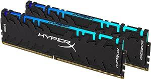 HyperX Predator DDR4 RGB 16GB Kit 3200MHz CL16 DIMM XMP RAM Memory / Infrared Sync Technology Black (HX432C16PB3AK2/16)