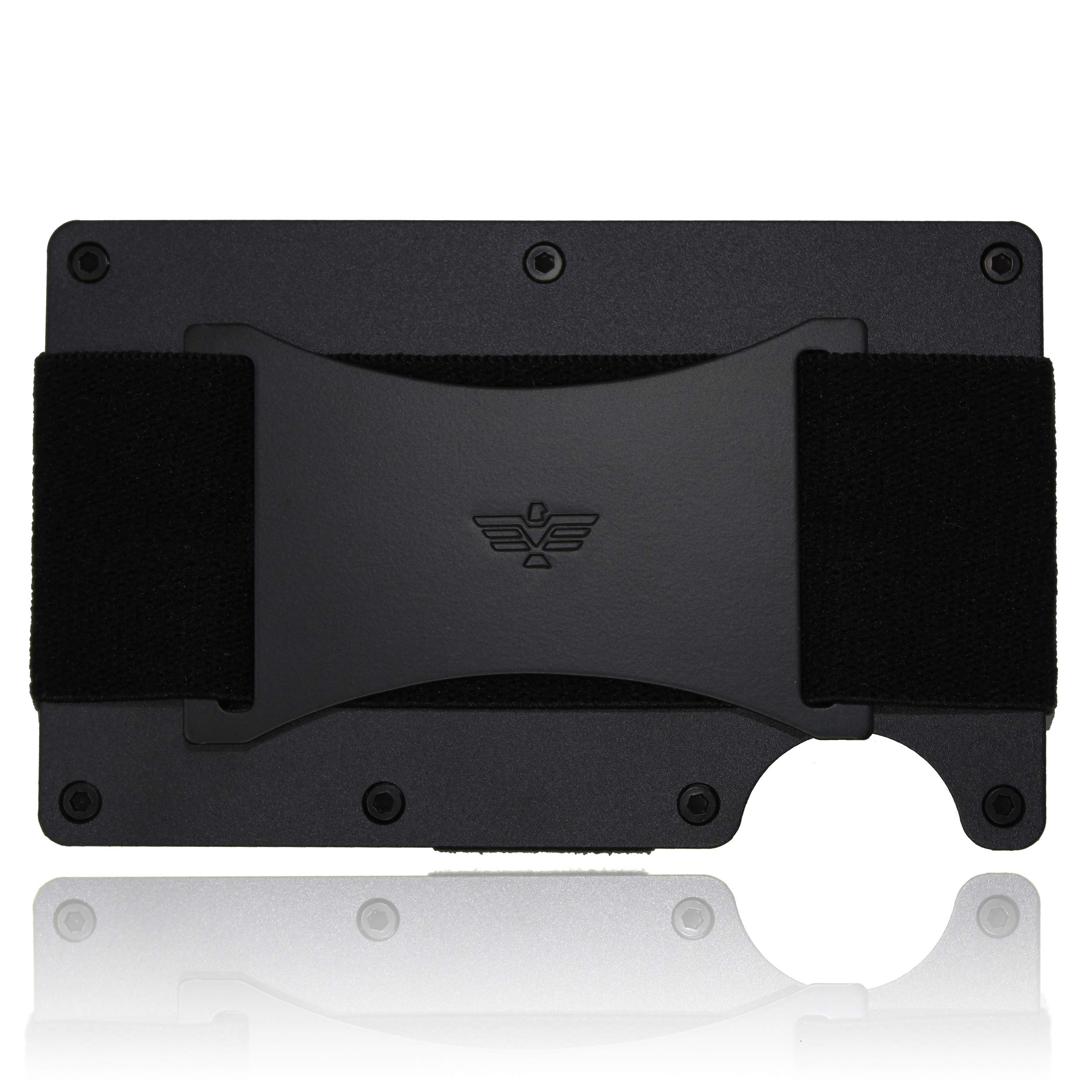 9bf1ec963cf8 Slim Minimalist Aluminum Wallet for Men/Credit Card Holder for Men with  Cash Strap product