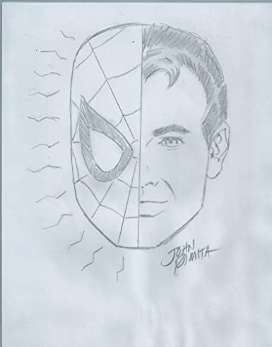 John Romita Sr Hand Signed and Drawn Pencil Spiderman Sketch