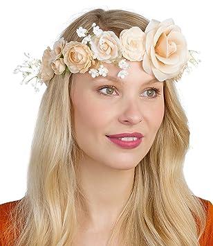 Six Hochzeit Damen Blumen Haarschmuck Blumenkranz Mit Bluten In