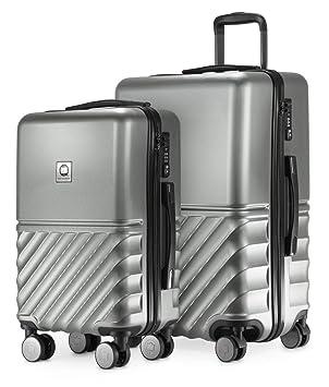 code promo fa8c1 79447 HAUPTSTADTKOFFER - Boxi - Set de 2 valises de Voyage, Taille Moyen et  Bagage à Main (55/65 cm), Coque Rigide Legere, ABS, TSA, 4 roulettes  Double, ...