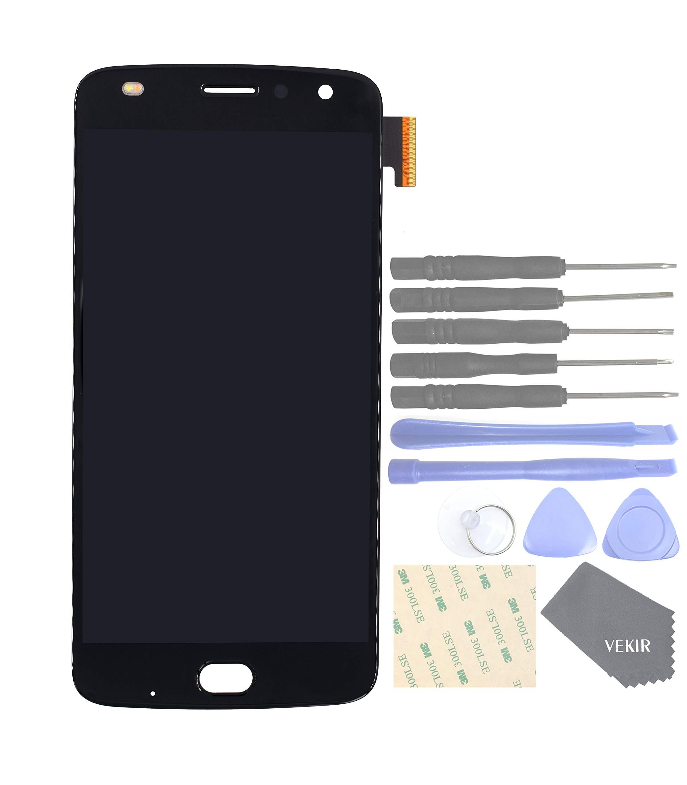 VEKIR Touch Display Digitizer Screen Replacement for Motorola Moto Z2 Play XT1710-01 XT1710-07 XT1710-10 XT1710-08(Black)