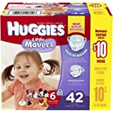 Huggies Little Movers Diapers - Size 6 - 42 ct