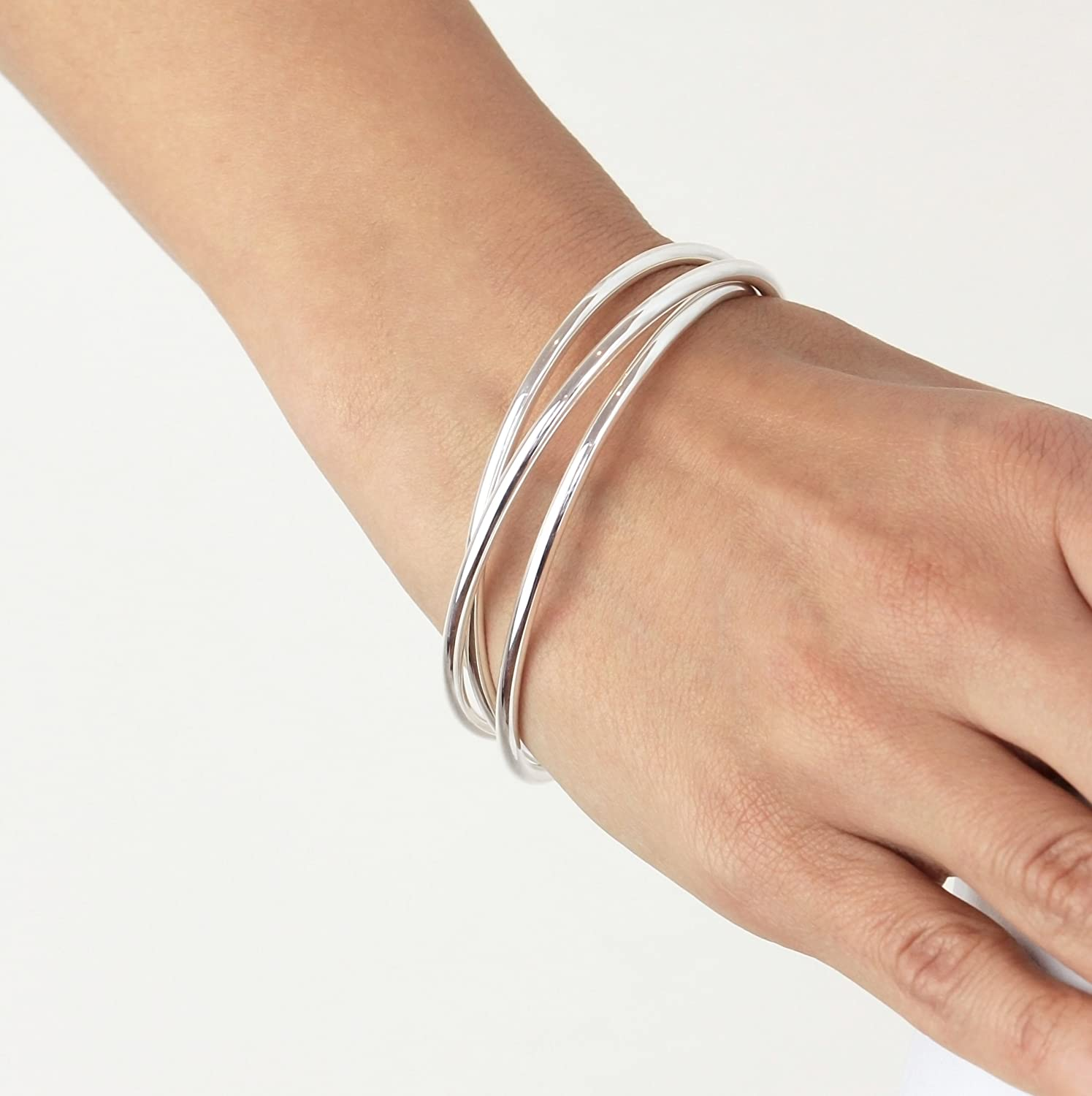buy nadinejewelry stack hand handmade bangles custom ban by bangle thin bracelets crafted hammered made silver sterling