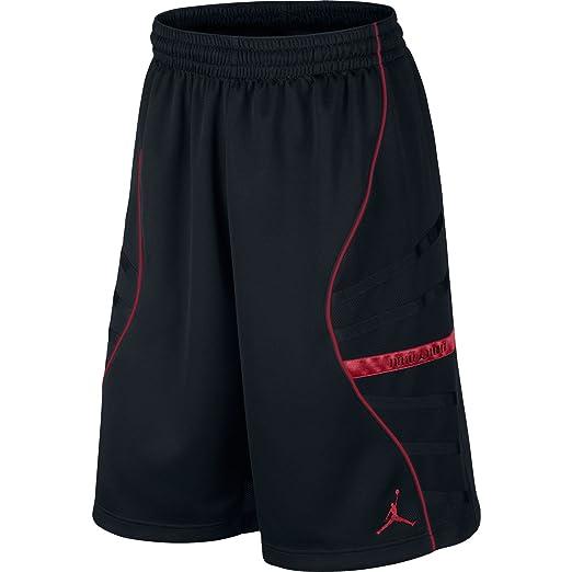 83471af13ee0ef Amazon.com  Jordan AJXI Basketball Men s Shorts Black Gym Red 632075 ...