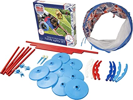 ANW American Ninja Warrior - Family Agility Set   Backyard Obstacle Course   Family Obstacle Course   Pet Obstacle Set