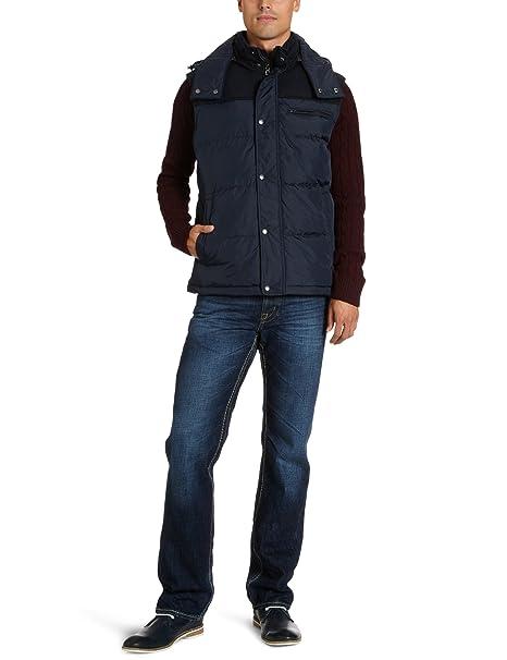 Geox - Chaleco regular fit con capucha sin mangas para hombre, talla 54, color