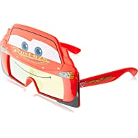 Sunstaches anteojos de Sol para Disfraz, diseño de Rayo Mcqueen, protección UV400
