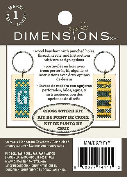 Amazon.com: Dimensions Monogram Wood Keychain Kit, 72-74111
