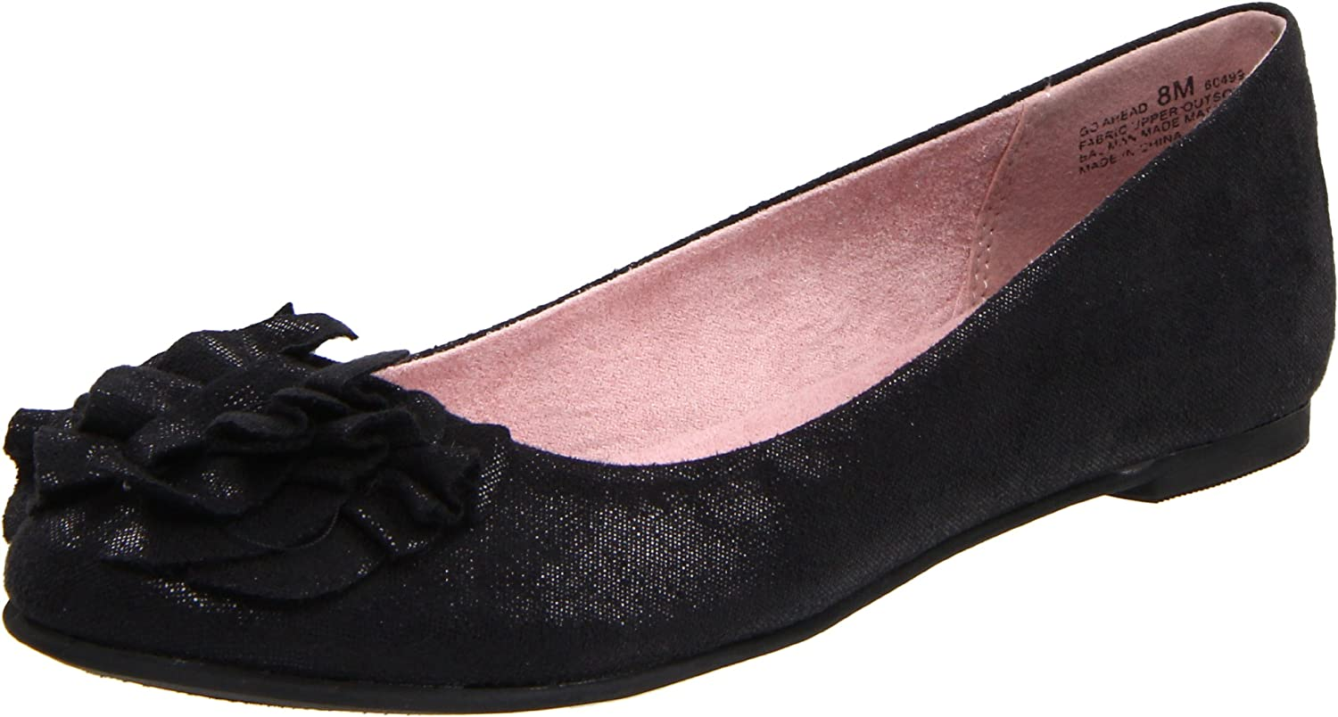 CL By Chinese Laundry Women's Go Ahead Ballet Flat, Black, 5.5 M US