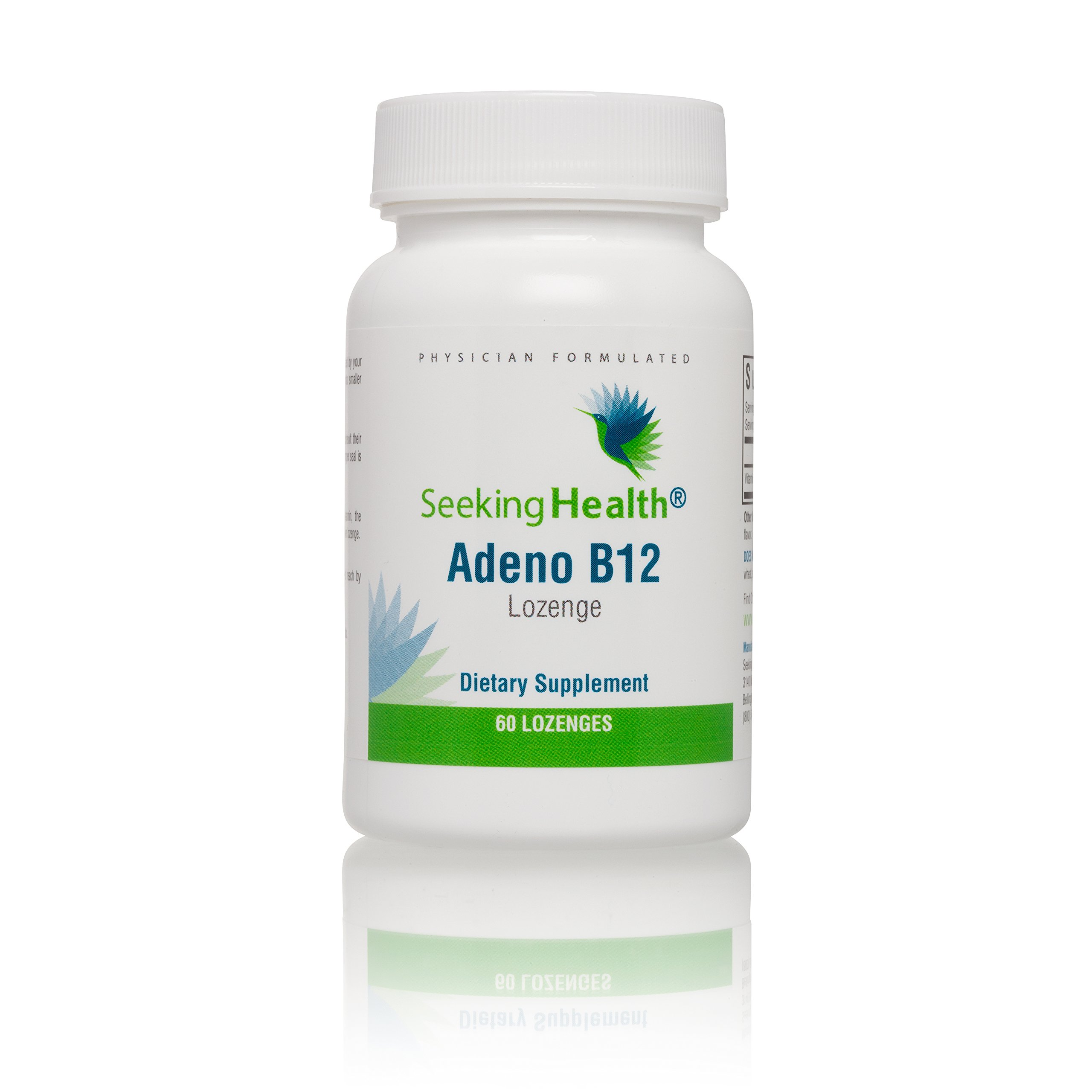 Adeno B12 Lozenge | 3,000 mcg Adenosylcobalamin | Mitochondrial Form of Vitamin B12 | 60 Lozenges | Free of Common Allergens and Magnesium Stearate | Seeking Health