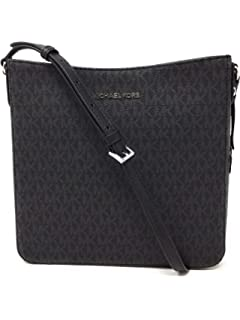 2fa714fa4ae3 Michael Kors Jet Set Travel MK Signature Slim Bifold Wallet in Black ...