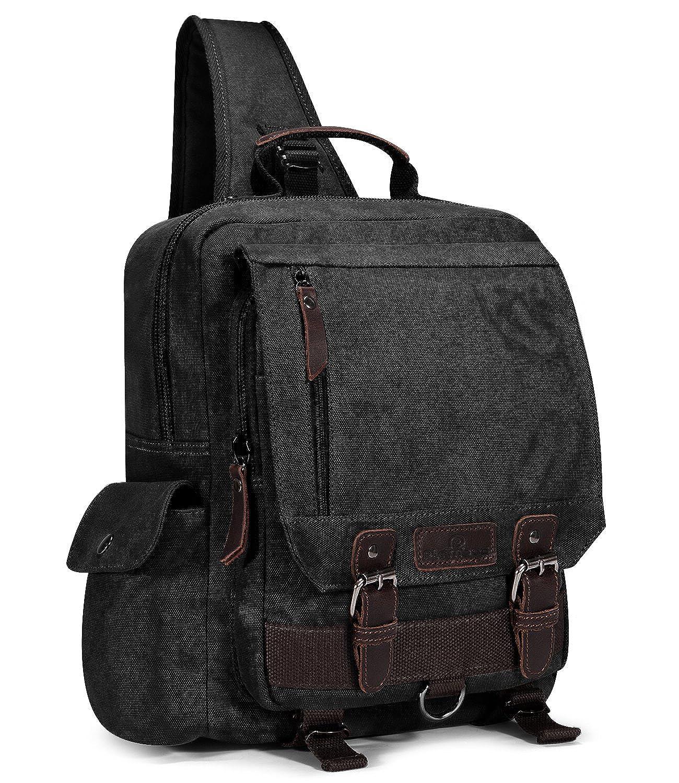 Plambag Canvas Sling Backpack One Strap Travel Sport Crossbody Bag Large PB059CE