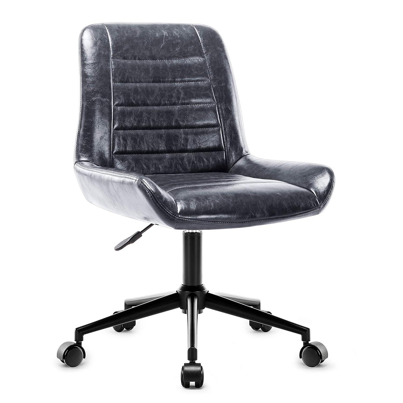 Chaise de Bureau Gris Fauteuil pour Biblioth/èque//Chambre//Salon Amoiu Chaise de Loisirs R/églable