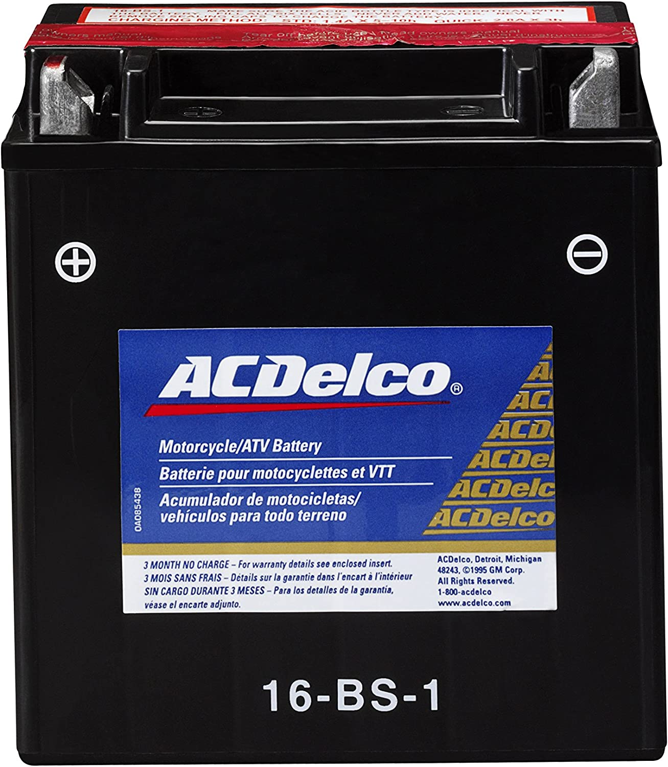 ACDelco ATX16BS1 Specialty AGM Powersports JIS 16-BS-1 Battery
